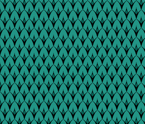 Strange Turquoise fabric by pond_ripple on Spoonflower - custom fabric