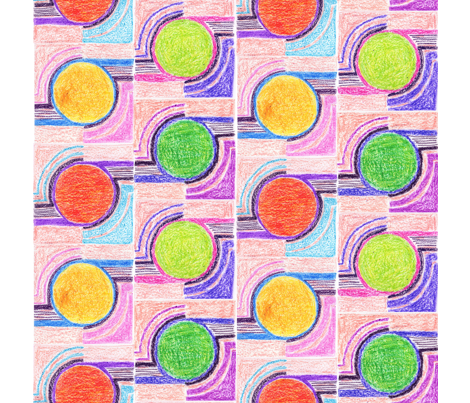 crayon circles napkin fabric by yema on Spoonflower - custom fabric