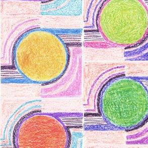 crayon circles napkin
