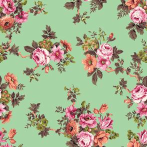 Apple vintage floral