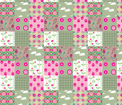 cheater's quilt (number 2) fabric by delsie on Spoonflower - custom fabric