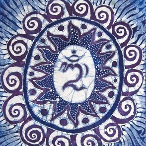 Blue Balinese Om