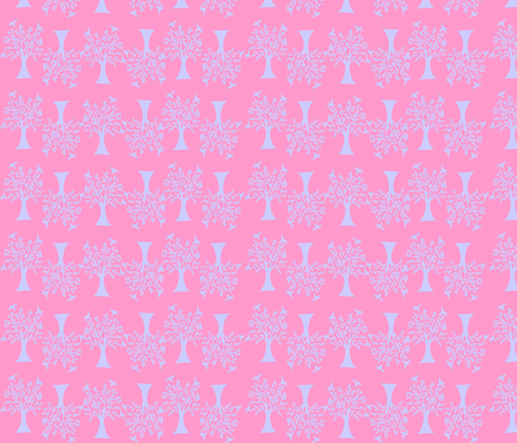Pink tree fabric by rosapomposa on Spoonflower - custom fabric