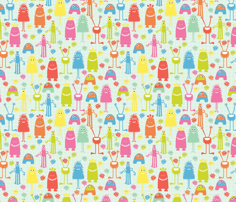 monster mash II fabric by mondaland on Spoonflower - custom fabric
