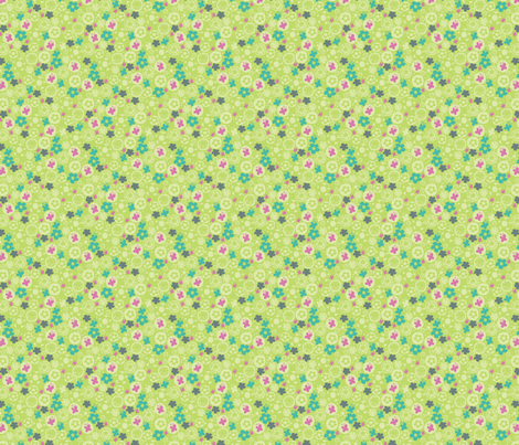 spring garden fabric by mondaland on Spoonflower - custom fabric