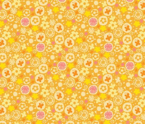 spring garden II fabric by mondaland on Spoonflower - custom fabric