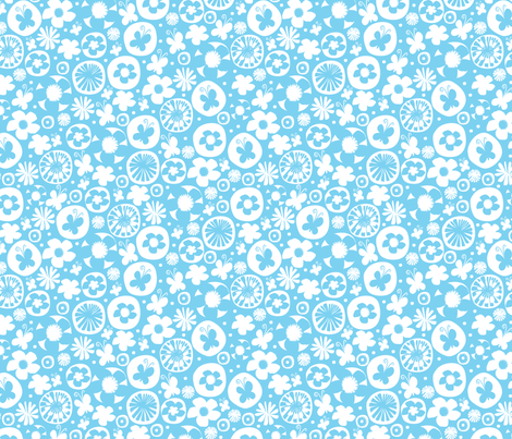 spring garden III fabric by mondaland on Spoonflower - custom fabric