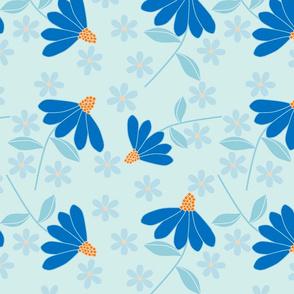 Blue Coneflowers