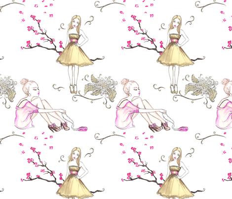 Zoe Girls fabric by artistandrea on Spoonflower - custom fabric