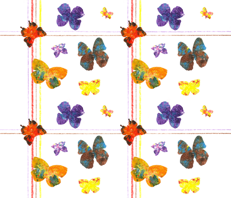 Melted_Crayon_Cut_Paper_Wings fabric by digitalginger on Spoonflower - custom fabric
