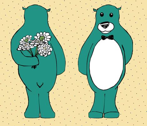 Sweet Bear fabric by pond_ripple on Spoonflower - custom fabric