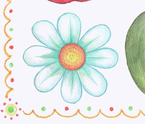 apple of my eye fabric by littlerhodydesign on Spoonflower - custom fabric