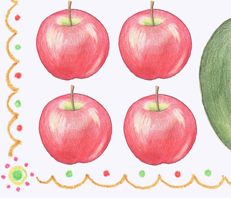 apples to apples fabric by littlerhodydesign on Spoonflower - custom fabric