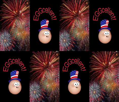 Independence Day fireworks fabric by graphicdoodles on Spoonflower - custom fabric