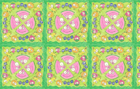 Fruit Party fabric by ghennah on Spoonflower - custom fabric