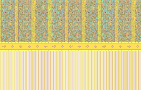 ©2011 Shower Curtain - Bird Motif - Island Canary fabric by glimmericks on Spoonflower - custom fabric