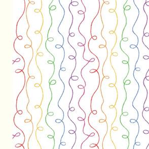 Rainbow Doodles Napkin (FQ)