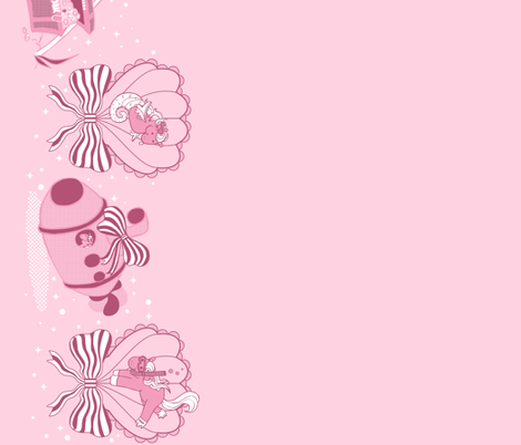 Lovely Horse Derpy Chan: Pink Pearl fabric by gabi-hime on Spoonflower - custom fabric