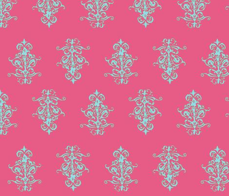 midcentury baroque - honeysuckle fabric by tractorgirl on Spoonflower - custom fabric