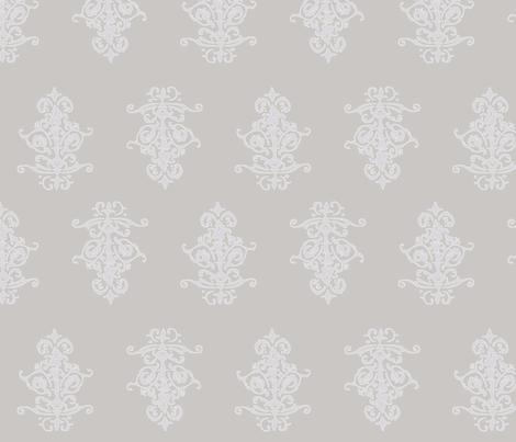 midcentury baroque - warmgrey fabric by tractorgirl on Spoonflower - custom fabric