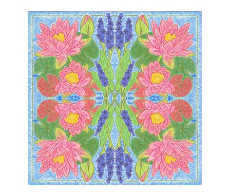 CrayonNapkin fabric by pinklilyfarm on Spoonflower - custom fabric