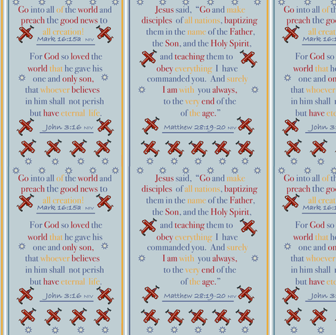 Go Into All the World - 3 fabric by petals_fair_(peggy_brown) on Spoonflower - custom fabric