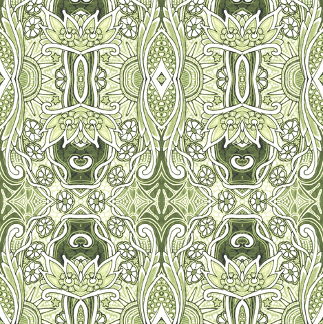 Meet the New Day (misty) fabric by edsel2084 on Spoonflower - custom fabric