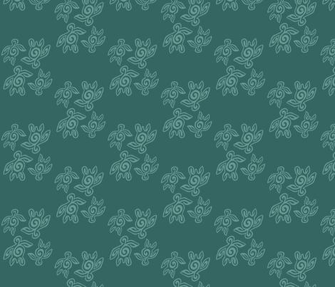 234-SpiritoftheSea-turtles-double-NEW fabric by mina on Spoonflower - custom fabric