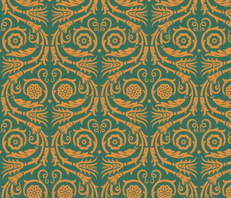 Acanthus Rinceau 1b fabric by muhlenkott on Spoonflower - custom fabric