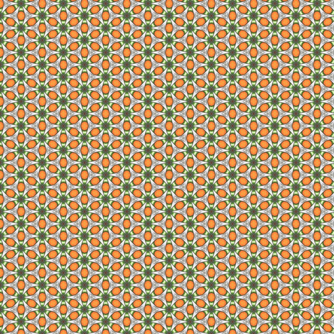 Poliviel's Oranges and Caltrops fabric by siya on Spoonflower - custom fabric