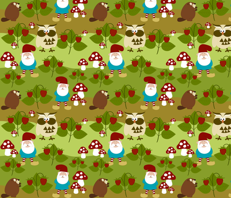 Gnome Patch fabric by mayabella on Spoonflower - custom fabric