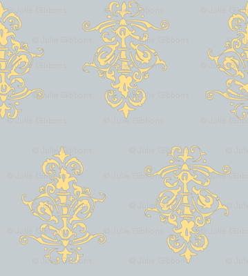 midcentury baroque - grey gold