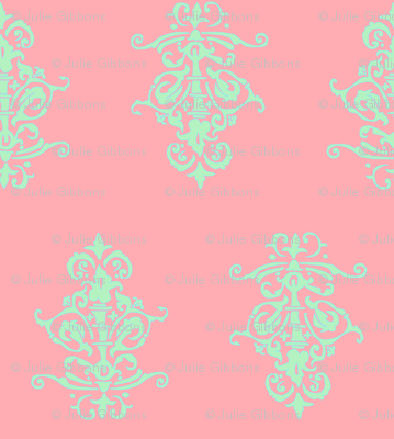 midcentury baroque - coral mint