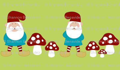 Gnome Patch- Beards an Fungi