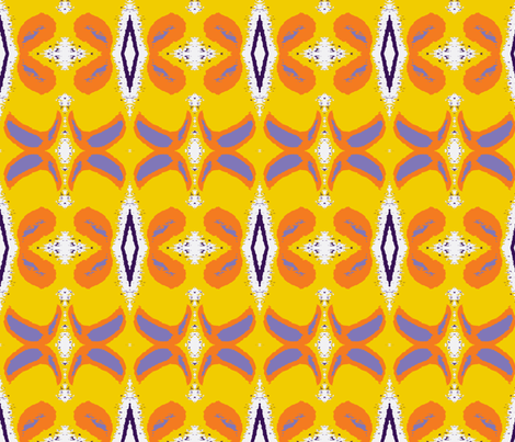 Peeling a Mango fabric by susaninparis on Spoonflower - custom fabric