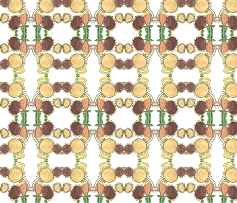 Eva's Sunflowers fabric by sewingirls on Spoonflower - custom fabric