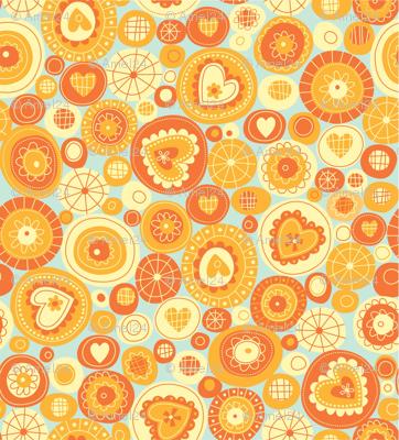 orange fun circles