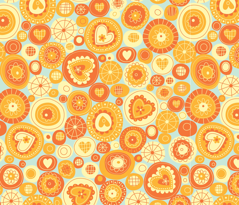 orange fun circles fabric by amel24 on Spoonflower - custom fabric
