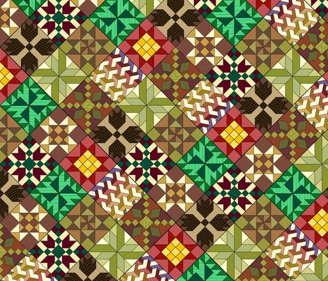 Quilt patterns fabric by hannafate on Spoonflower - custom fabric