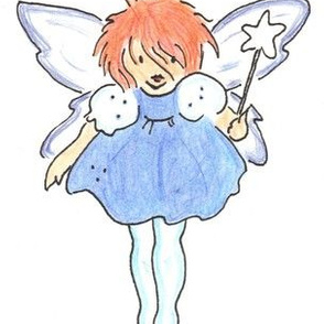 Ginger Fairy in Blue