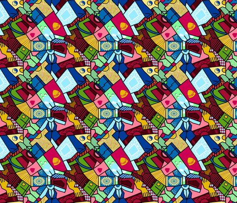 Laundry Sorting (black edged) fabric by eclectic_house on Spoonflower - custom fabric