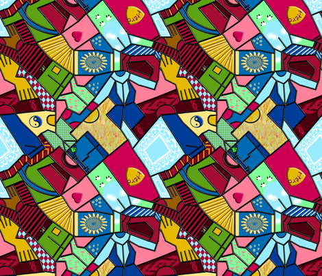 Laundry Sorting (some 3D effect motifs) fabric by eclectic_house on Spoonflower - custom fabric