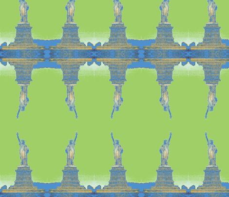 Liberty GreenBlue fabric by relative_of_otis on Spoonflower - custom fabric