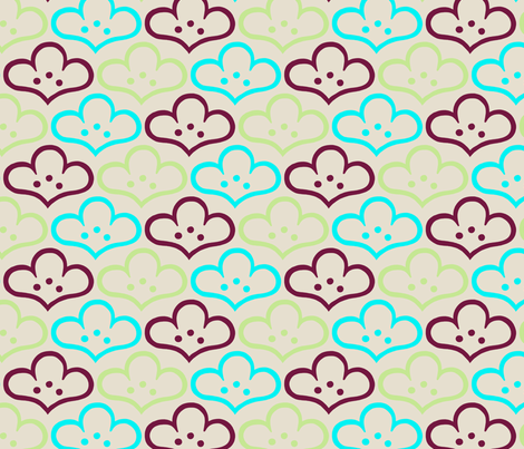 Cloudflower Dreams fabric by siya on Spoonflower - custom fabric