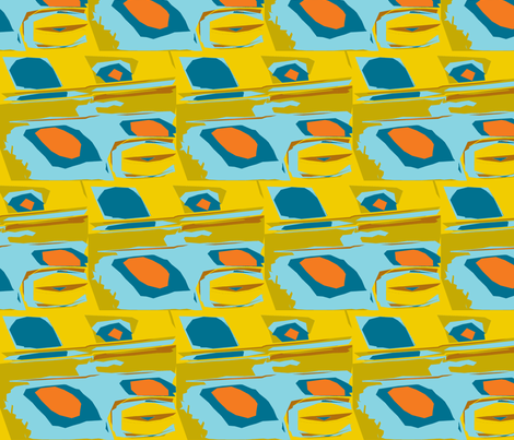 Alien Breakfast of Champions fabric by susaninparis on Spoonflower - custom fabric