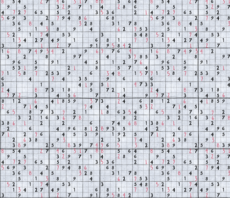 Sudoku fabric by leighr on Spoonflower - custom fabric