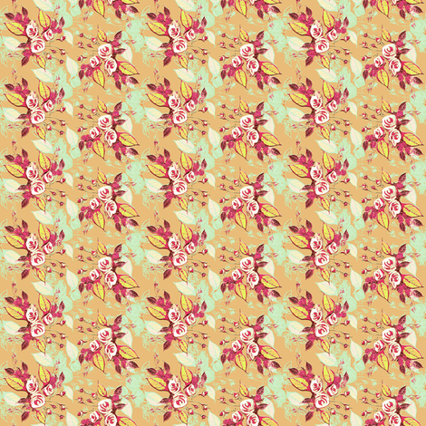 Roses Beige background fabric by joanmclemore on Spoonflower - custom fabric