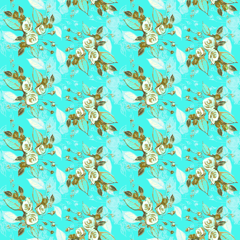 Farmhouse Roses Jenny fabric by joanmclemore on Spoonflower - custom fabric