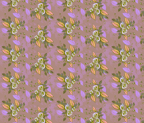 Roses dark mauve background fabric by joanmclemore on Spoonflower - custom fabric