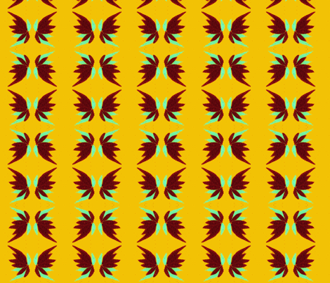 flying leaves fabric by mimi&me on Spoonflower - custom fabric